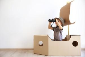 Kreatív játékok papír dobozból