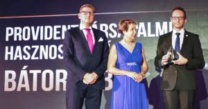 A Bátor Tábor a Provident Társadalmi Hasznosság Díj nyertese