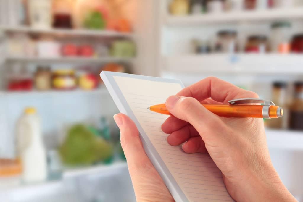 bevásárló lista írása