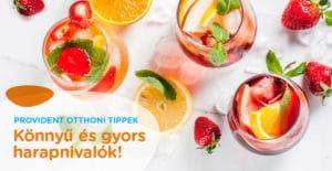 Frissítő és hűsítő nyári italok
