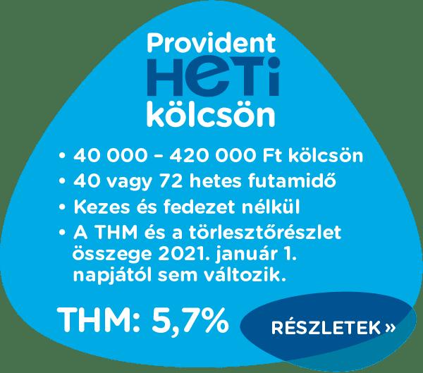 Heti kölcsön | Provident