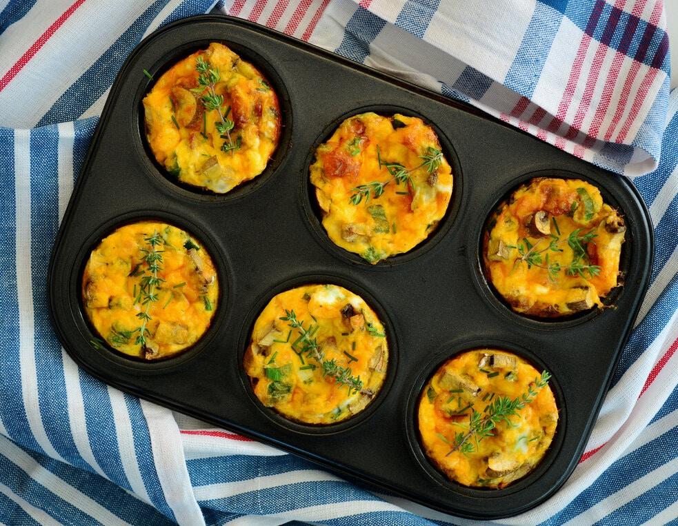 Tojásos muffin recept
