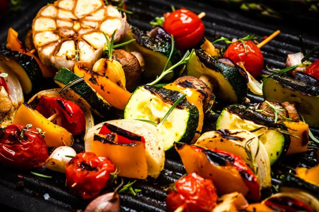 Kerti sütögetéshez grill zöldségek